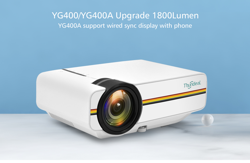 ThundeaL YG400 YG400A Mini Projector With 1800 Lumen and Built-in Speakers 5