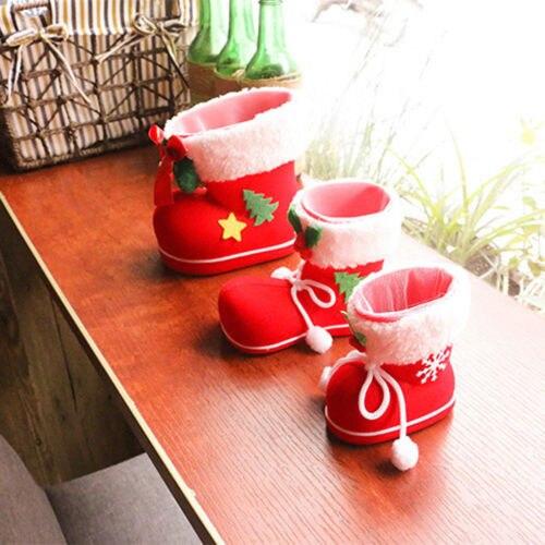 Botas de caramelo flocado calcetines navidad regalo bolsa de Navidad  decoración caja niños Santa invierno Bebé lindas botas de moda Accesorios en  Botas de ... 7b282bb8f7e82