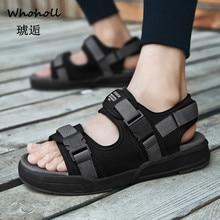 Whoholl 2019 Mens Summer Shoes Comfortable Beach Sandals Men Light Casual Flat Sandalen Heren Zandalias Verano Hombre