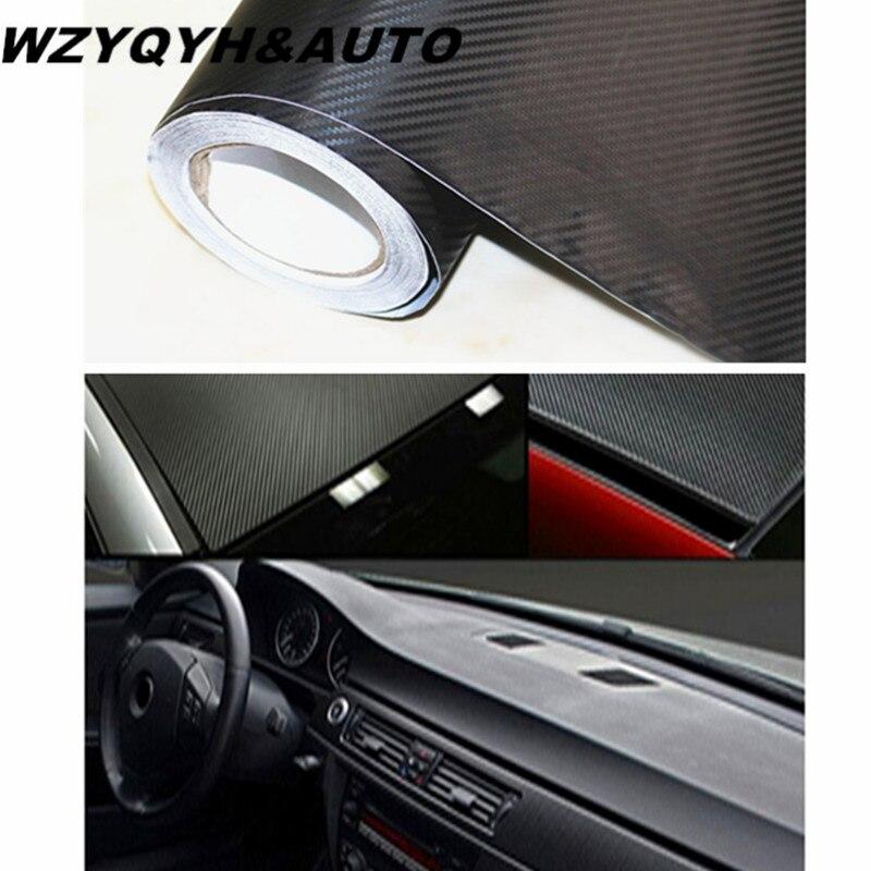 30cm*200cm 3D Carbon Fiber Vinyl Film 3M Car Stickers Waterproof DIY Motorcycle Automobiles Car Styling Wrap Roll Accessories