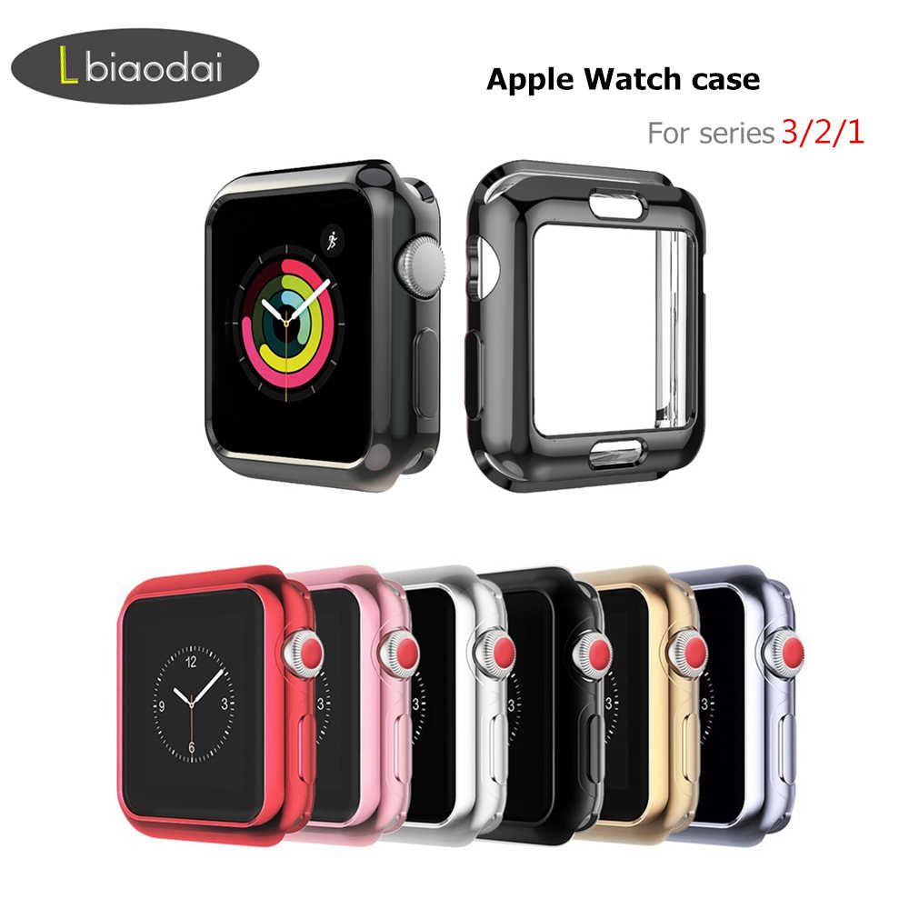 Cover for Apple Watch case 42mm 38mm iWatch band Colorful Plating Screen Protective Case for Apple watch 3 2 1 Watch Accessories