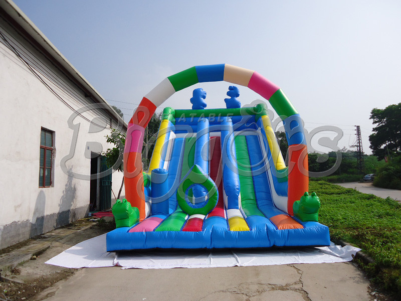 FREE SHIPPING BY SEA Creative PVC Inflatable Slide, Jumping Slide With Bouncer For Kids free shipping by sea kid inflatable bouncer for sale with inflatable slide