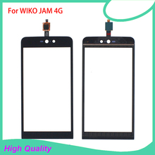 High Quality For WIKO Jam 4g Touch Screen Digitizer Assembly Black Color 100% Guarantee Mobile Phone Touch Panel Free Tools 10pcs lot for wiko ridge fab 4g lcd display touch panel black color mobile phone lcds with touch screen free shipping