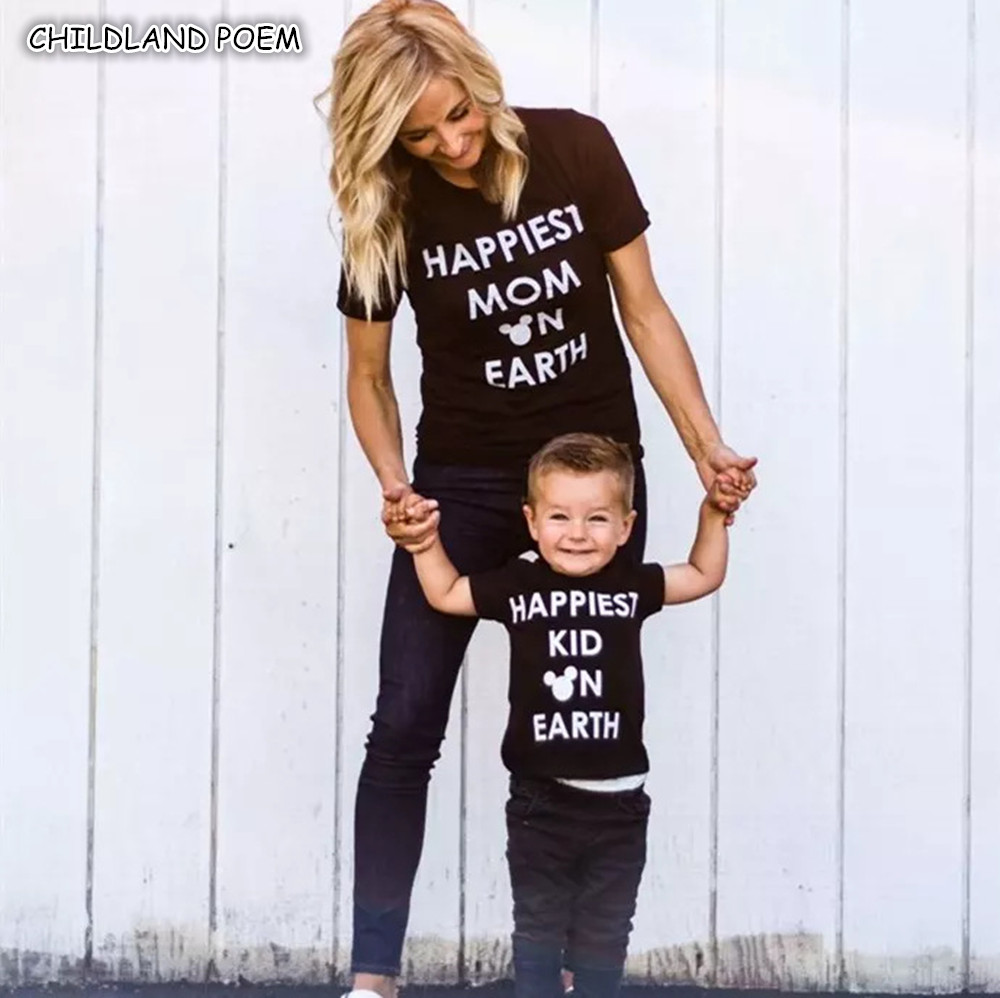 Family Matching Clothes Summer Mother Daughter Clothes Matching Mommy And Me T-shirt Clothes Family Look Mother Son Outfits mother and daughter clothes short sleeved t shirt dresses family matching outfits baby girl clothes girls clothing long dress