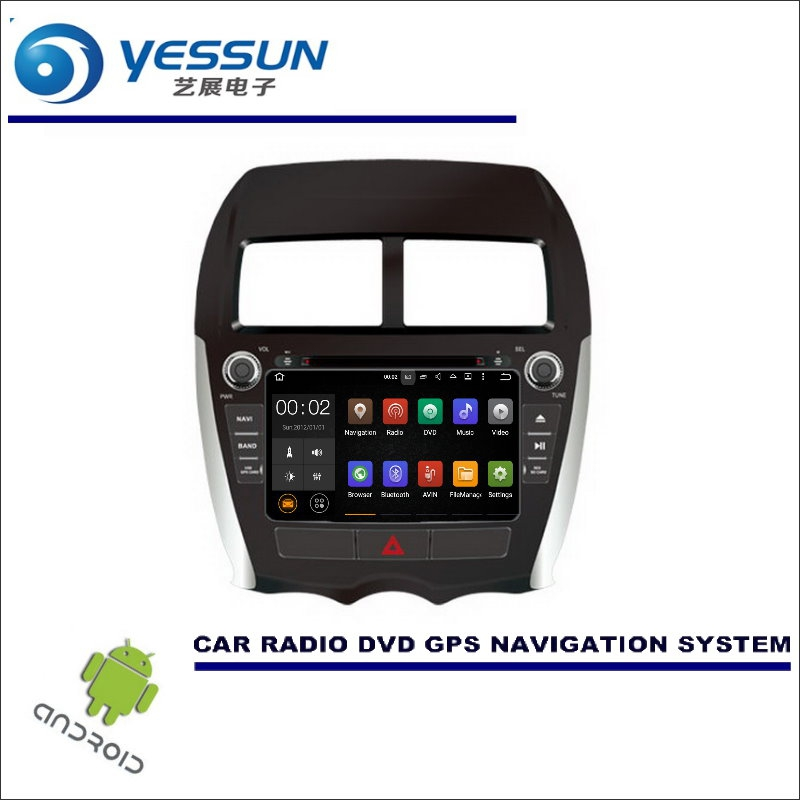YESSUN Car Multimedia Navigation For Mitsubishi ASX / For Peugeot 4008 CD DVD GPS Player Navi Radio Stereo Wince / Android funrover 2 din android car dvd player multimedia for mitsubishi asx 2011 2015 peugeot 4008 citroen c4 aircross gps radio stereo