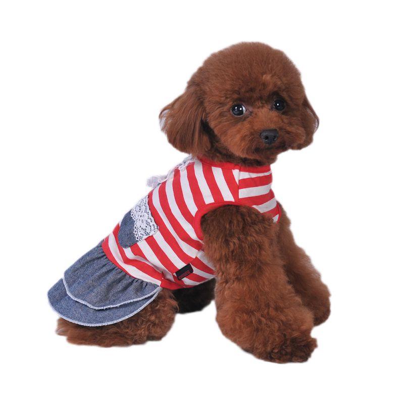 Cane Gatto Pet Abito Da Sposa Della Principessa Cute Dog Apparel Bella  Vestiti Del Cane Cucciolo Denim Dress 996476cbaf3a