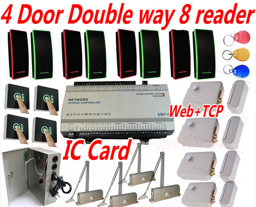 Security & Protection Sunny Free Shipping 125khz Rfid 2 Doors Access Control Systems For 2-ways Access Control Panel Free Software+2 Reader