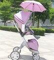Child star high landscape folding trolley car reversing four bb stroller