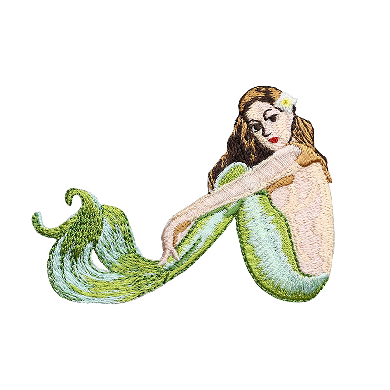 Beauty Mermaid Embroidered Iron On Patch