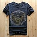 Los hombres al por mayor de lujo del diamante de diseño de moda T-shirt camisetas hombres camisetas divertidas de la marca tops y camisetas de algodón