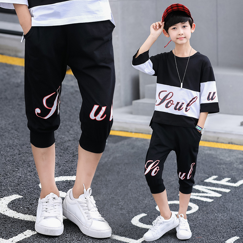 Boy's Trousers Capris Leggings Para Menina Children's Cropped Cotton Printed Casual Pants All-matched Comfortable Fashion 2018 цены онлайн