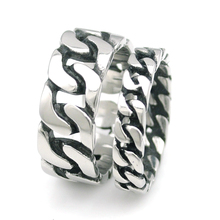 NIENDO New Arrival Bike Chain Ring Men Stainless Steel Unique Jewelry exquisite Men's Biker Rings Punk Cool Style Gift LR489