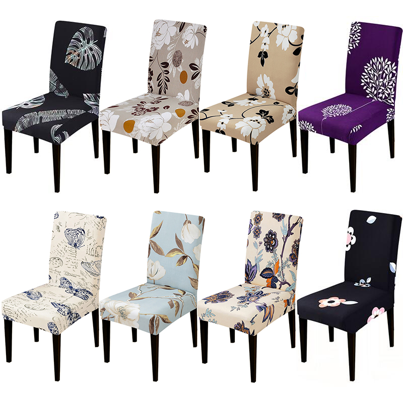 Printed Chair Cover Elastic Seat Chair Covers Removable
