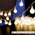 10 M 50 Led Mini Bola Global LED Twinkle Luz de la Secuencia de LA UE 220 V blanco Caliente Cambio de Color A Prueba de agua para la boda/el Partido/Jardín