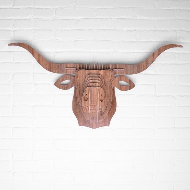 45x93x28 Cm Moderne Dekoration Holz Tier Kopf Mobel Wilden Afrika