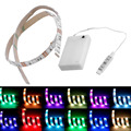 4.5V Battery Operated 50CM RGB LED Strip Light Waterproof Craft Hobby Light Hot Selling with Battery Box