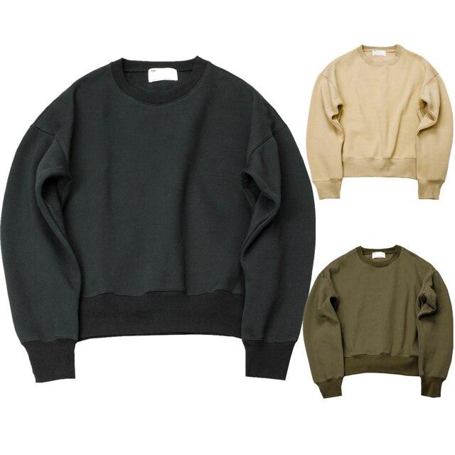 2016 new KANYE WEST FOG YEEZY SEASON Sweatshirts simple solid men's Hoodies oversize drooping shoulders men's tops