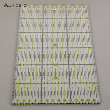 Sale Hicello 1pc Acrylic Quilt Ruler Patchwork Rulers Sewing Rulers Arts Crafts Multifunction DIY Hand Sewing Accessory 30*15cm