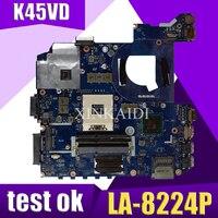 XinKaidi original QCL41 LA 8224P laptop motherboard for ASUS Motherboard K45VD A45V K45V K45VM K45VJ K45VS A45VJ mainboard test
