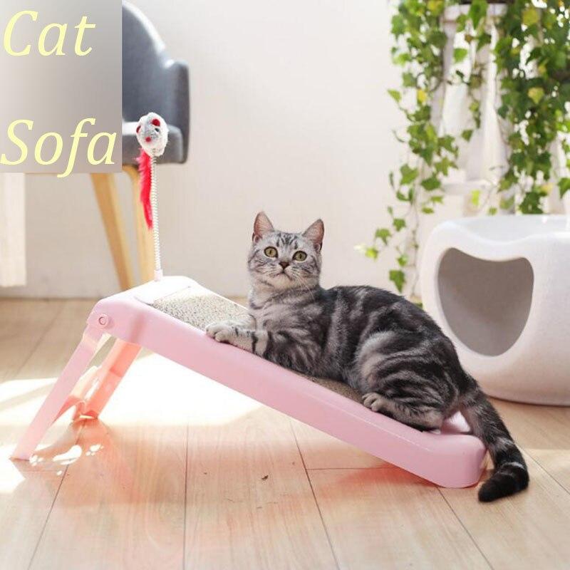 1 pièces pliable chat canapé chat découpé planche à gratter chaton souris jouet chats jouet avec cataire chat repos maison lit