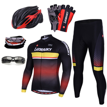 цена на Hot Men Cycling Sets Summer Long Sleeve Cycling Jersey 2019 Pro Team Mountain Bike Clothing Mtb Wear Breathable Bicycle Clothes
