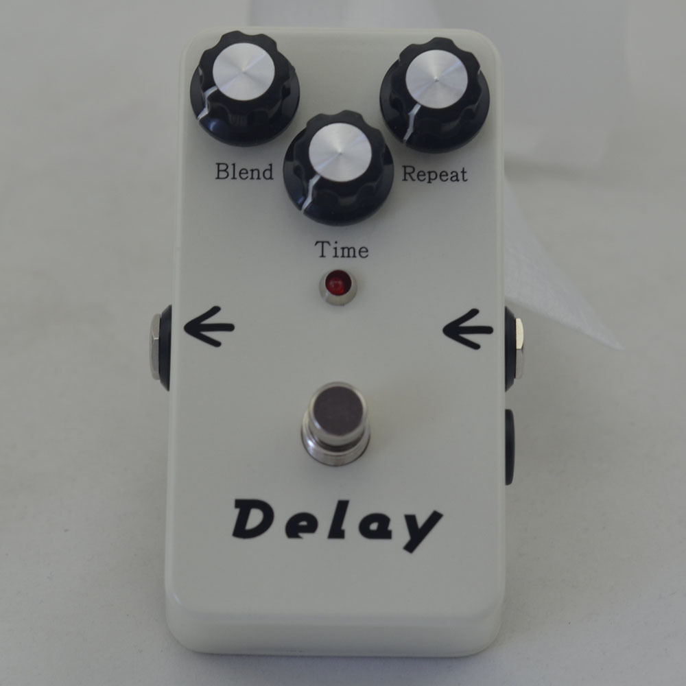 Delay Guitar Effect Pedal  &True Bypass  ProfessIonal white Pedals Guitarra Effect +FREE SHIPPING mooer ensemble queen bass chorus effect pedal mini guitar effects true bypass with free connector and footswitch topper