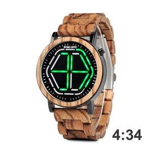 Image 4 - BOBO BIRD LED 디스플레이 시계 남자 relogio masculino 나이트 비전 디지털 남성 시계 reloj hombre V P13