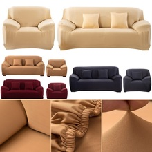 Modern Pure Color Fashion Elastic Sofa Covers For Living Room Cover Stretchable Cushion Washable Slipcover