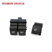 цена на shipping chrome power master single window switch button for volkswagen vw passat b6 eos golf 5 6 r32 gti mk5 mk6 2pcs/ kit