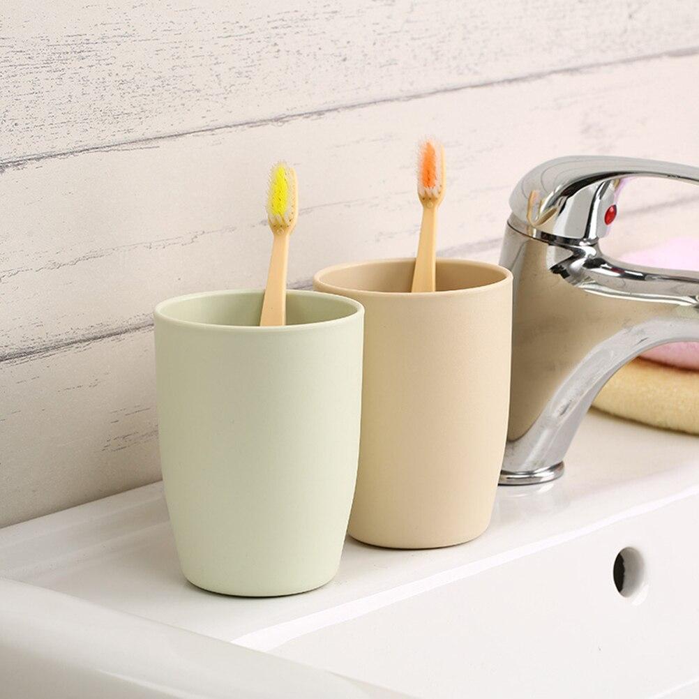 1 Pc Umweltfreundliche Bad Japanischen Stil Dicken Runden Tassen Zahnbürste Halter Tasse Pp Spülen Tasse Waschen Zahn Becher Sanitär Ware Hochglanzpoliert