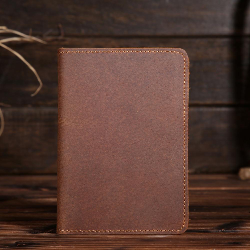 Yishen cuero genuino pasaporte cubierta billetera de viaje pasaporte - Monederos y carteras