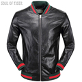 Luxury Brand Tiger 3D Fashion Mens Motorcycle Leather Jacket Striped Man Biker Coats Homme Boys Clothing Jaqueta Masculina Couro