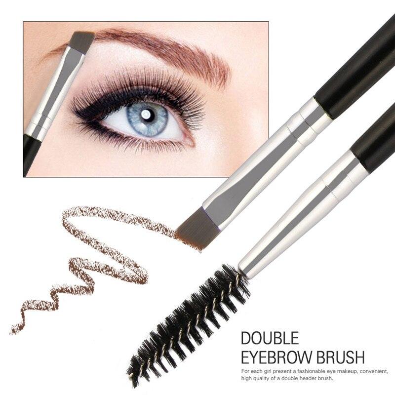 Maange Eyebrow Makeup Brush Wood Handle Double Sided Eyebrow Flat Angled Brushes Eye Brow Makeup Brushes Professional #5