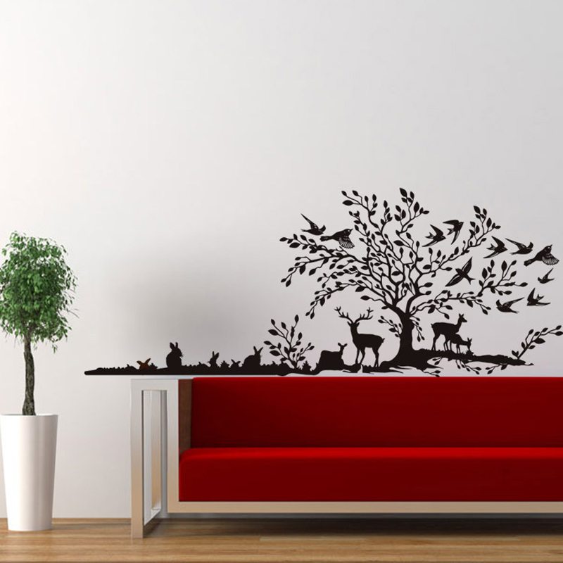 DIY Wandaufkleber Ausgangsdekor Safari Tier Decals Zitate Wohnzimmer Sofa Hintergrund DekorationChina Mainland