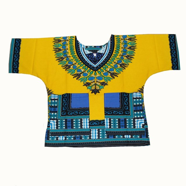 Wholesale Kids 2017 Child New Fashion Design Traditional African Clothing Print Dashiki T-shirt For Boys and Girls 4
