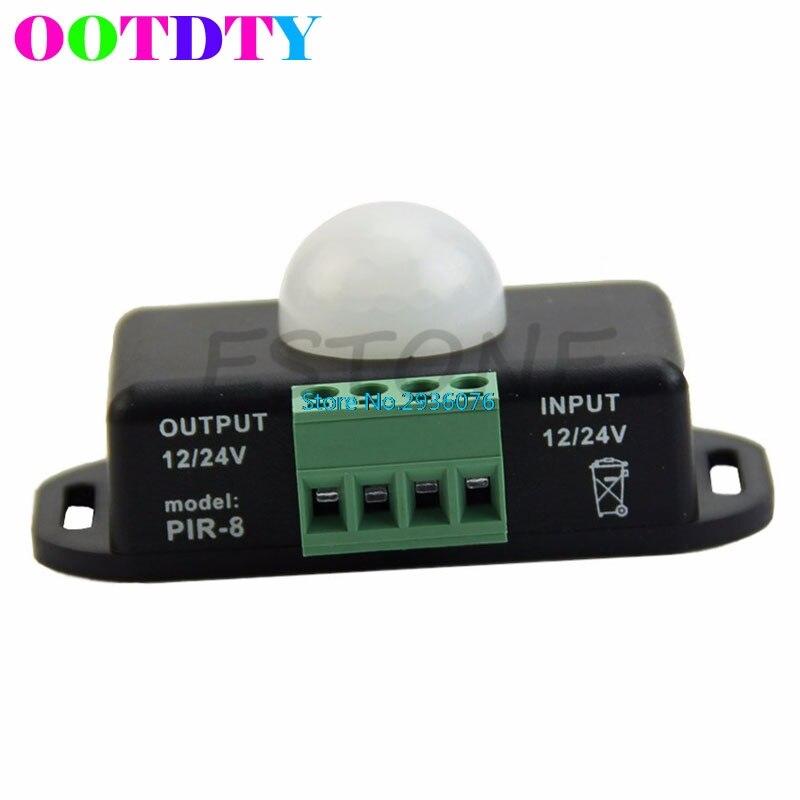 Body Infrared PIR Motion Sensor Switch DC 12V/24V For LED Light Strip Automatic APR14_35 automatic dc 12v 24v 6a infrared pir motion sensor switch for led strip light new s08 drop ship