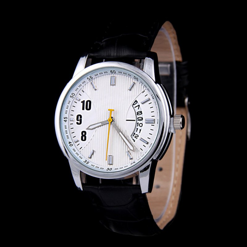 Stylish Sport Men Quartz Watches Chic Quartz Calendar PU Leather Strap Wrist Watch gc sport chic x70030l1s