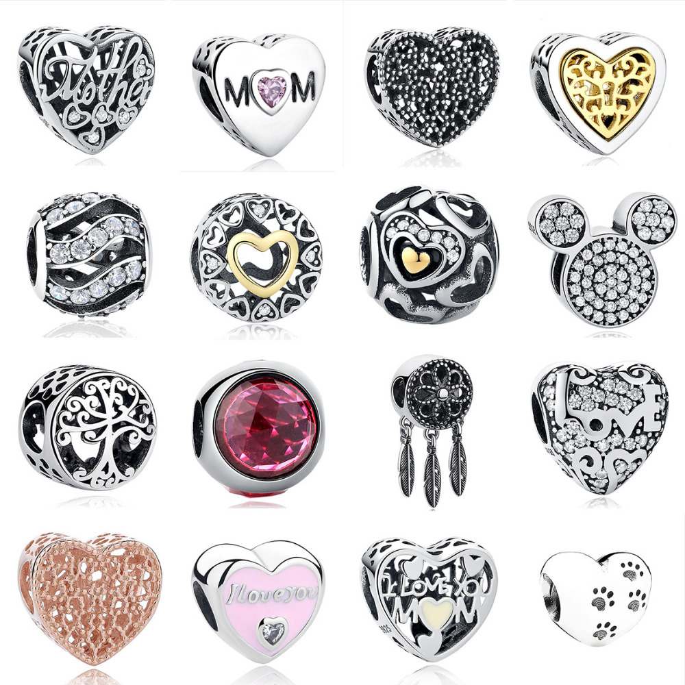 Beads Mybeboa Summer Style 925 Sterling Silver Trendy French Bulldog Pendant Charms Bead Fit Original Pandora Bracelet Charms Jewelry Fancy Colours Jewelry & Accessories