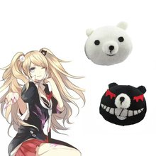 Cheap 1 Pair Dangan Ronpa Danganronpa Hair Clip Junko Enoshima Mono Kuma Mono White Black Bear Anime Cosplay Headwear Girl Gift(China)