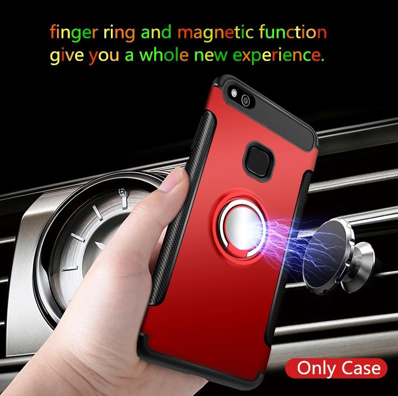 Olaf Untuk Huawei P10 Lite kasus Robot Armor Cincin Kickstand Karet - Aksesori dan suku cadang ponsel - Foto 5