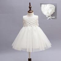 Summer Infant Baby Girl Christening Gowns Princess Birthday Dress Fashion Tutu Wedding Baptism Dresses Baby DQ256