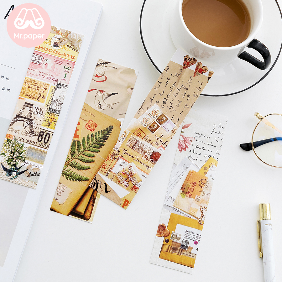 Mr Paper 30pcs/box Instagram Facebook Minimalist Style Bookmarks For Novelty Book Reading Maker Page Creative Paper Bookmarks