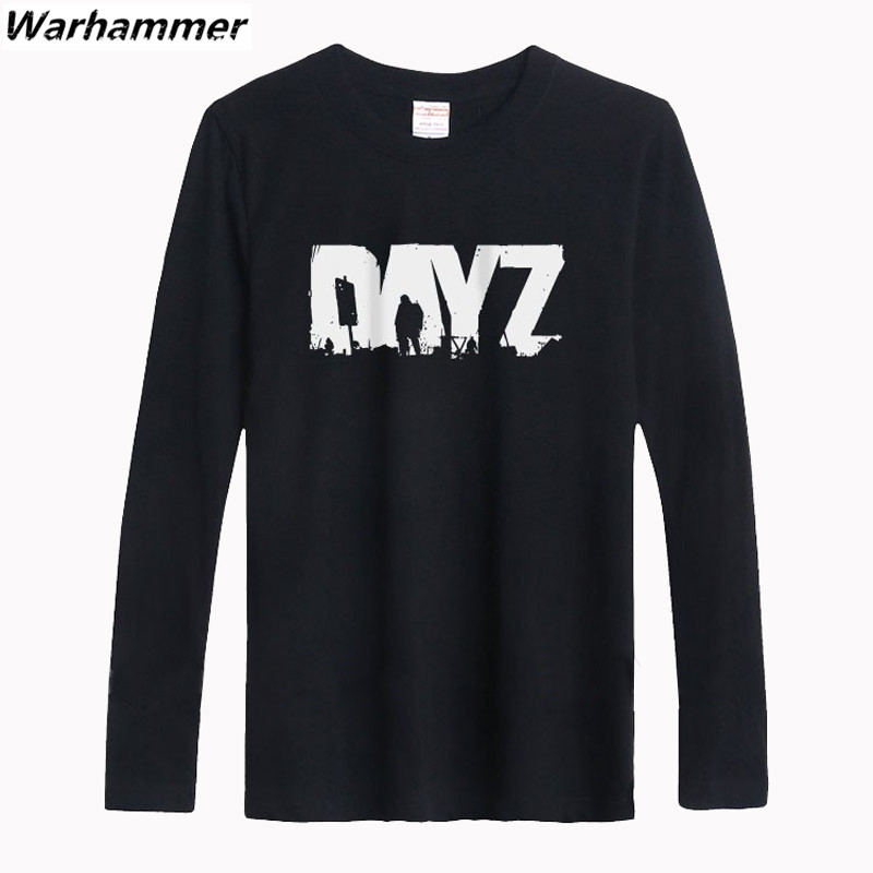 Fresh man's short sleeve basic T-shirts gamer tshirts printed DAYZ boy's O-neck big yard Man 6.2oz cotton T-shirts printing tee