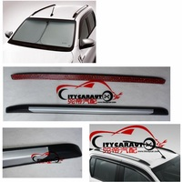 CITYCARAUTO 2015 2017 CAR Decorative Roof Rails For HILUX REVO Silver Roof Rails Rack Carrier Bars For HILUX REVO Side Rail