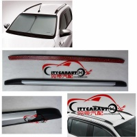 2015 2017 CAR Decorative Roof Rails For HILUX REVO Accessories Silver Roof Rails Rack Carrier Bars