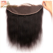 Ear to Ear 13X4 Lace Frontal Closure Free Part With Baby Hair Brazilian Straight Remy Human Hair Lace Frontals Bleached Knots