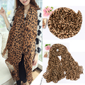 Fashion Women Long Style Wrap Lady Shawl Leopard Chiffon Scarf Scarves Stole 2017 fashion new style B1
