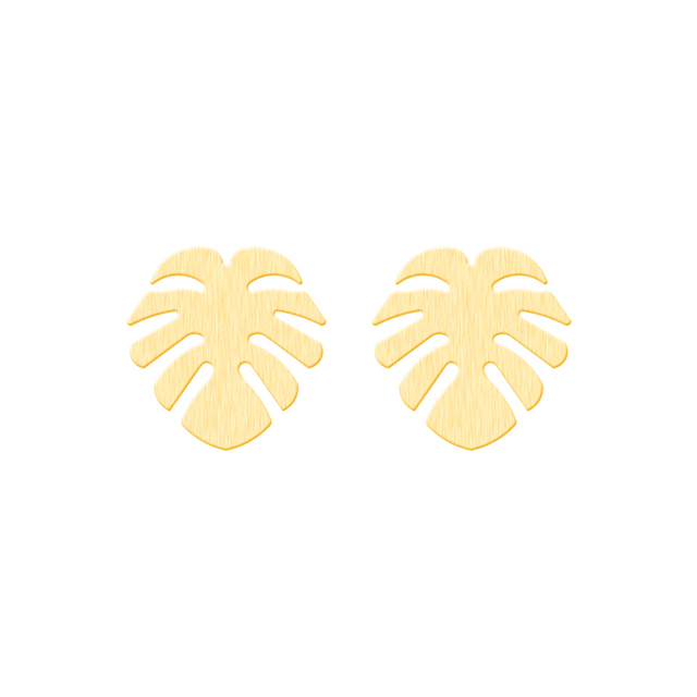 Hawaii Palm Tree Stud Earrings Fashion Jewelry Stainless Steel Beach Coconut Black For Women