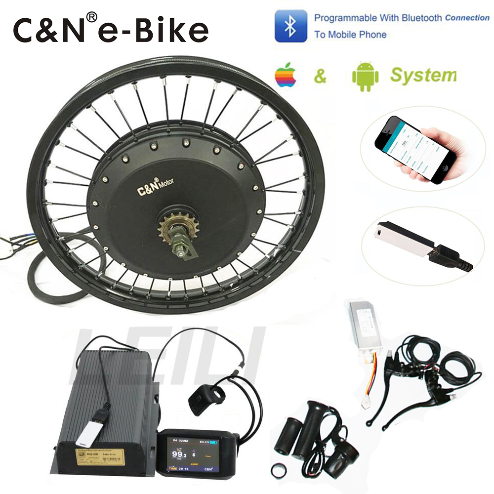 2019 Powerful Programmable 72v 8000w Electric Bike Conversion Kit for enduro ebike