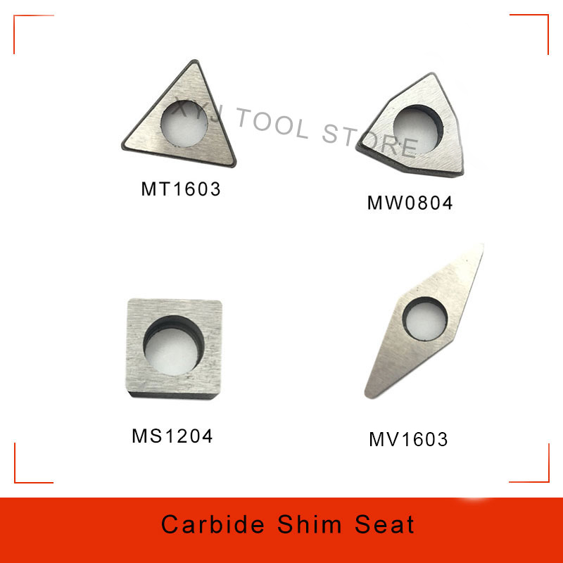 10pcs MC1204 MT1603 MT1604 MS1204 MV1603 MW0804 Carbide Insert Shim Seats Tightening Screw Knife Pad For CNC Turning Toolholder